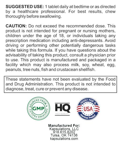 kapsulations melatonin use label