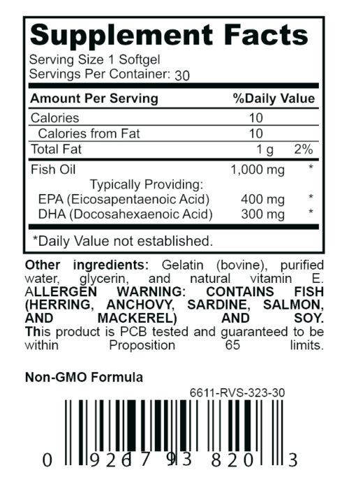 kapsulations omega 3 supplement label
