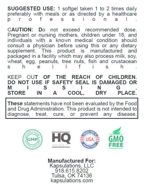 kapsulations omega 3 use label